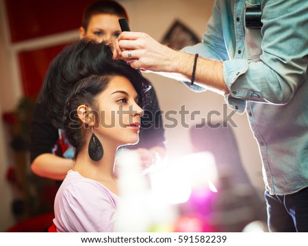 getting a new hairstyle stock photo © photography33