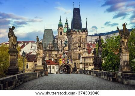 prague hradcany castle Stock photo © courtyardpix