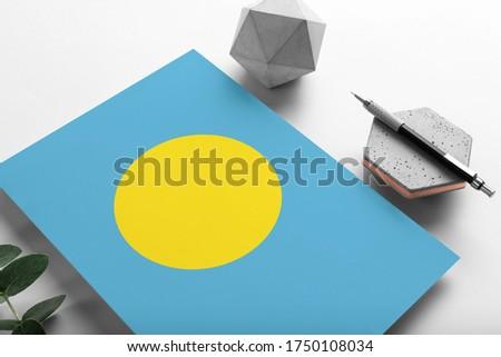 E-mail Palau imagem carimbo mapa bandeira Foto stock © perysty