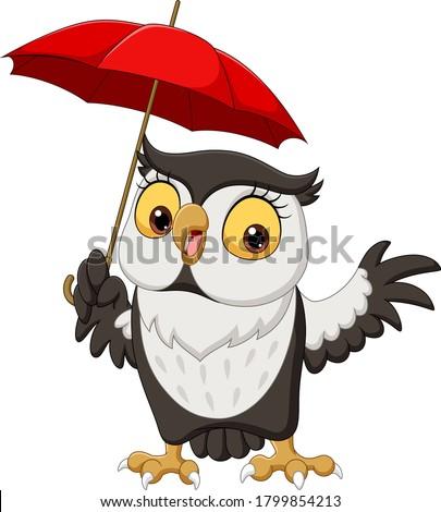 owls in the rain Stock photo © adrenalina