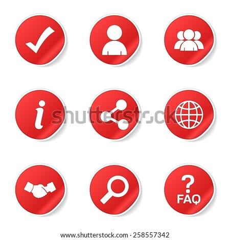 Helpen vector Rood web icon knop Stockfoto © rizwanali3d