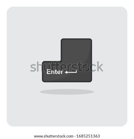 Belépés gomb billentyűzet makró kép terv Stock fotó © jordanrusev
