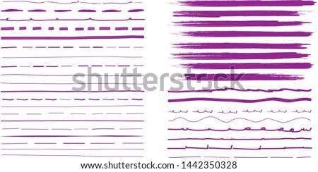 Ink Pen Violet Vector Icon Design Stock photo © rizwanali3d