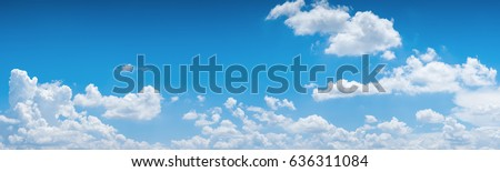 beautiful blue sky with clouds Stock photo © meinzahn
