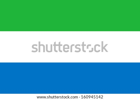 Sierra Leone flag, vector illustration Stock photo © butenkow