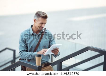 zakenman · koffie · kantoor · business · school - stockfoto © dolgachov