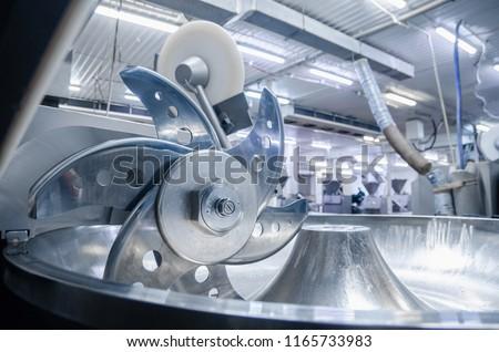 worst · productie · lijn · slager · vlees · voedsel - stockfoto © grafvision