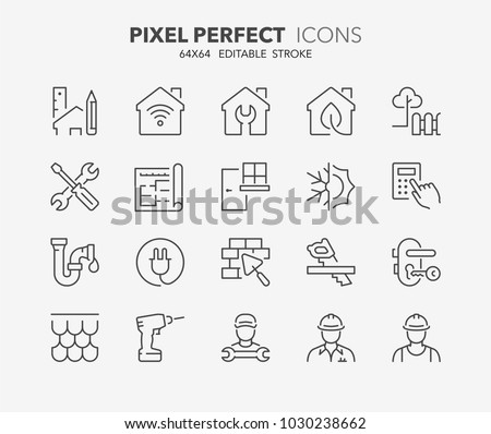 Construction and Working Plan Workers Set Vector Stock photo © robuart