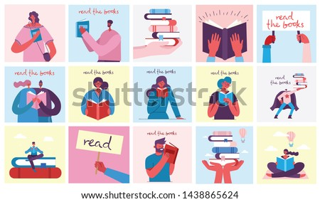 Person Reading Paper Page Vector Illustration Stock photo © robuart