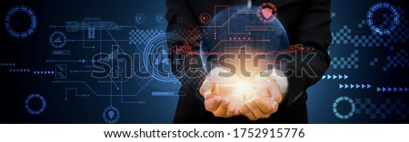 futuristic data visualization technology concept banner Stock photo © SArts