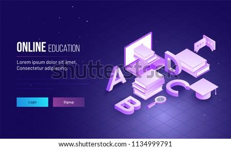online education 3d blue templates stock photo © genestro