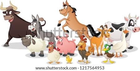 pig farm animal character cartoon illustration Stock photo © izakowski