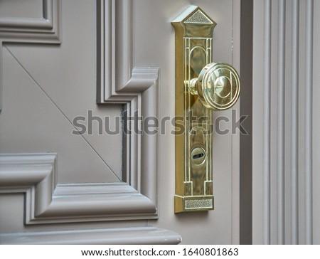 Szczegół drzwi metal uchwyt starych Zdjęcia stock © kyolshin