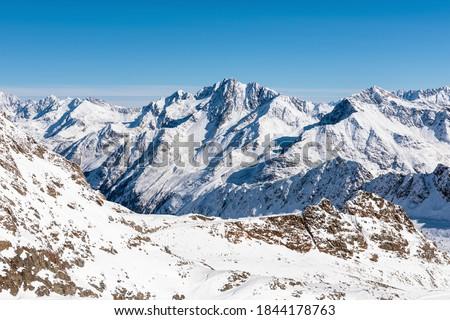 Gyönyörű természet európai Alpok tájkép kilátás Stock fotó © Anneleven