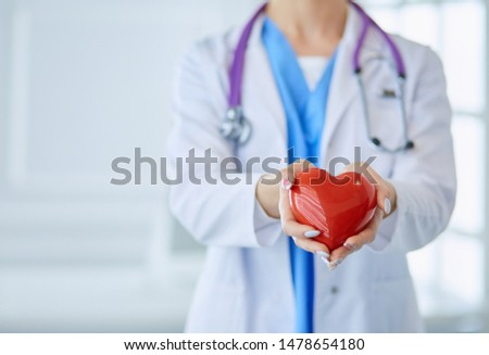 female nurse with stethoscope isolated stock photo © dehooks