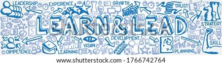 Stock photo: learn lead in arrows