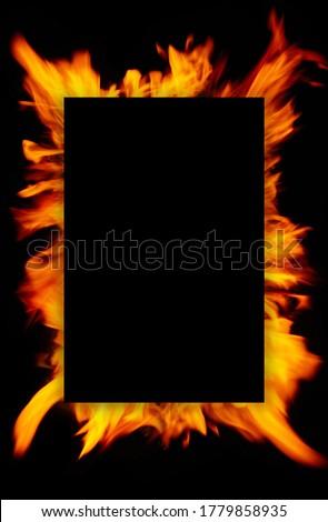 Llama fuego negro peligro movimiento calor Foto stock © wavebreak_media