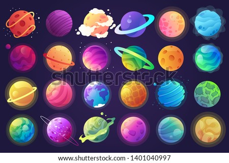 Colorful Planet Orbit Abstract Icon Stock photo © cidepix