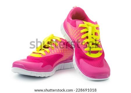 Stock photo: Sport shoe isolated on white background