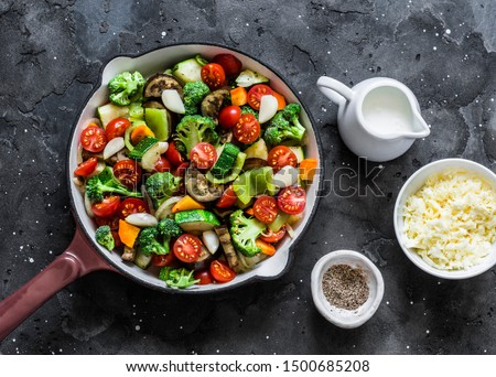 rustic vegetarian casserole Stock photo © zkruger