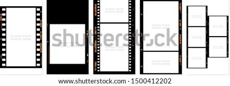 Film puzzle blu pezzi del puzzle film cinema Foto d'archivio © fuzzbones0