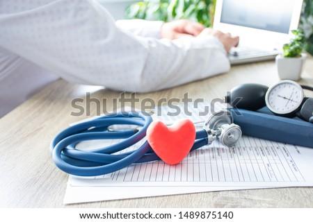 sphygmomanometer heart shape Stock photo © Paha_L