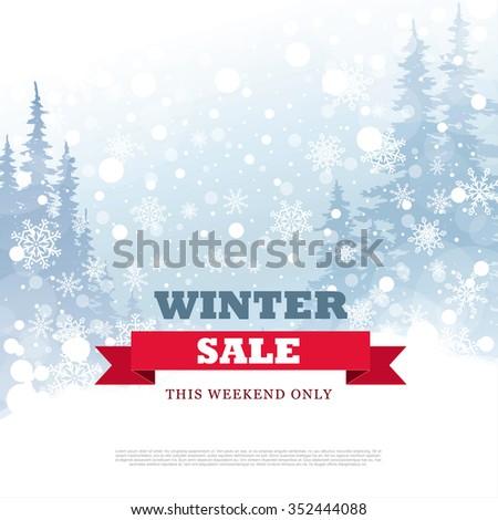 Winter Deals Red Vector Icon Design Stock photo © rizwanali3d