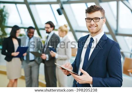 Fiatal üzletember illusztráció fehér férfi cipők Stock fotó © bluering