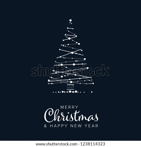 Christmas sjabloon flyer kaart Blauw Stockfoto © orson