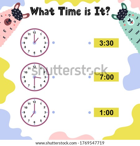 Worksheet template for telling time Stock photo © colematt