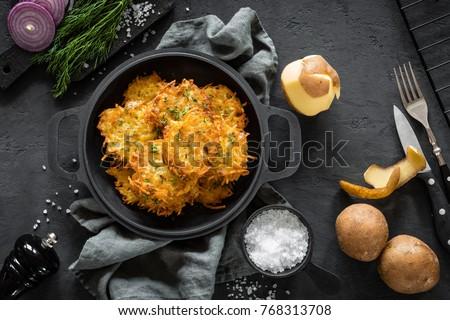Casero crujiente papa bio patatas Foto stock © Peteer