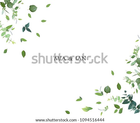 Border template with green leaves Stock photo © bluering