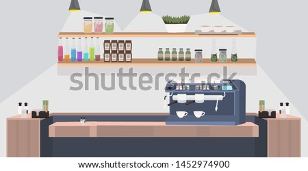 Coffee Machine with Cups for Coffeehouse Vector Stock photo © robuart