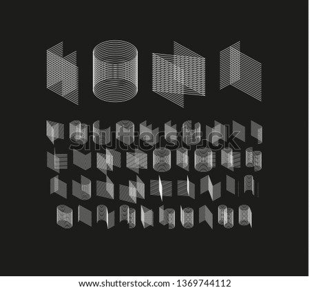 Isometric line Font. Alphabet letters. Three dimensional effect letter and number. Vector Stock photo © Andrei_