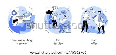 Resume writing service abstract concept vector illustration. Stock photo © RAStudio