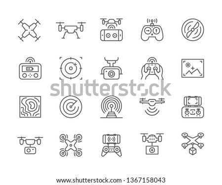 Quadcopter and Remote Controller, Drone Vector Stock photo © robuart