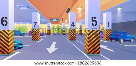 公園 ガレージ にログイン 駐車場 ビッグ 市 ストックフォト © mybaitshop