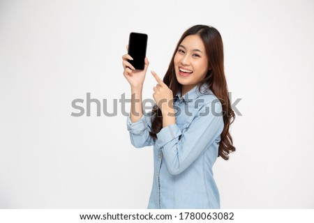 jonge · zakenvrouw · mobiele · witte · studio · business - stockfoto © photography33