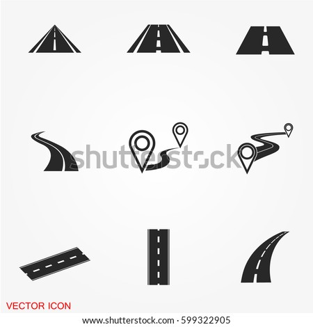 vector · icon · weg · vloer - stockfoto © zzve