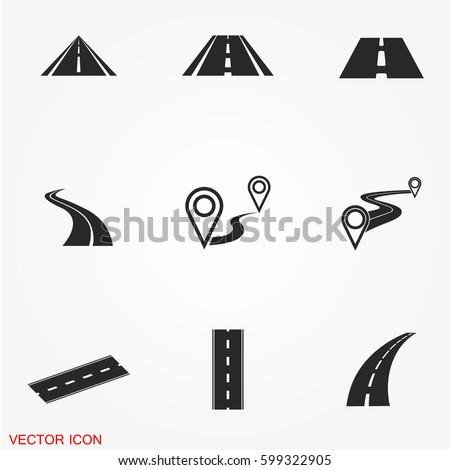 Stockfoto: Vector · icon · weg · vloer