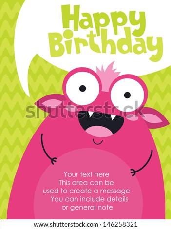 birthday card with funny little girl Stock photo © balasoiu