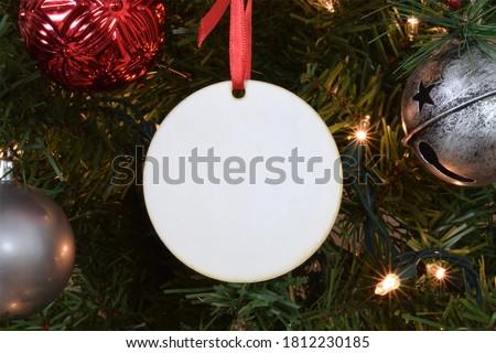 Noel süs beyaz boya top tatil Stok fotoğraf © Tomjac1980