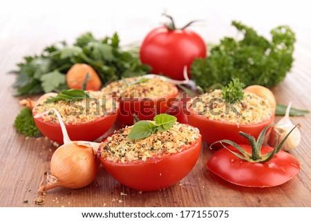tomato filled with breadcrumbs Stock photo © M-studio