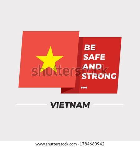 Flag of Vietnam themes idea design Stock photo © kiddaikiddee