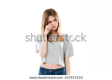 Aantrekkelijk kaukasisch meisje studio zakenvrouw 30s Stockfoto © bmonteny