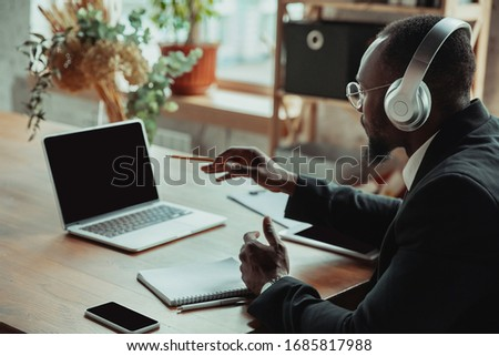 business professional using a tablet pc stock photo © stockyimages