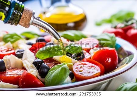 Eigengemaakt salade houten voorraad foto Stockfoto © nalinratphi