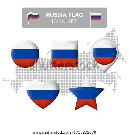 Foto stock: Cuadrados · etiqueta · bandera · Rusia · aislado · blanco