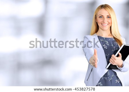 Mujer de negocios mano eps 10 silueta negro Foto stock © Istanbul2009