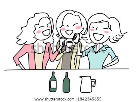 mosolyog · barátok · tequila · pult · bár · portré - stock fotó © wavebreak_media